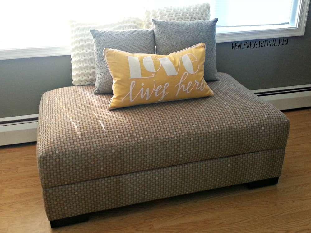 Newlywed Furniture: Jonathan Louis Lombardy storage ottoman #JonathanLouisStyle #JonathanLouis #jlfurniture