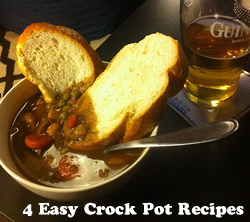 4 Easy crock pot recipe ideas