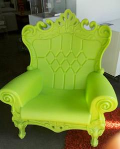 neon green chair