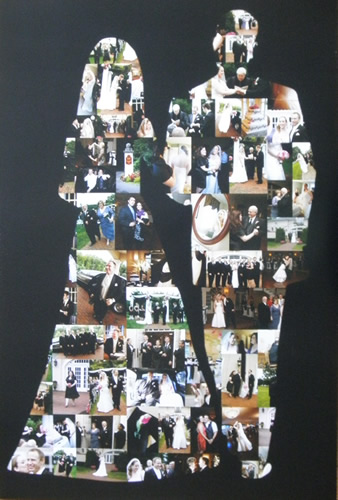 wedding photo collage poster