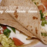 Chicken soft taco with creamy salsa verde