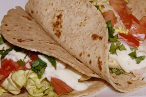 Chicken soft tacos with creamy salsa verde sauce recipe