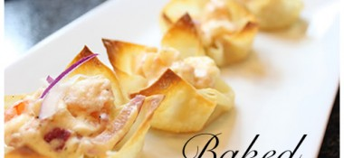 Baked shrimp rangoon recipe. Perfect appetizer for parties!