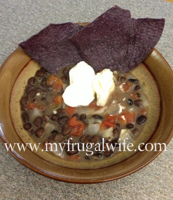 Black Bean Soup from My Frugal Wife