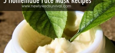 5 homemade face mask recipes - save money and make them yourself!