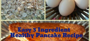 Easy 3 Ingredient Healthy Pancake Recipe