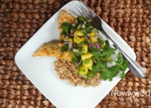 Mango Chile Chicken with Coconut Pearl Couscous