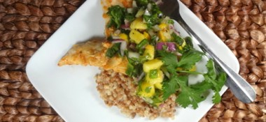 Mango Chile Chicken with Coconut Pearl Couscous #recipe