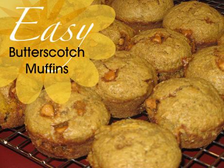 Easy Butterscotch Muffins