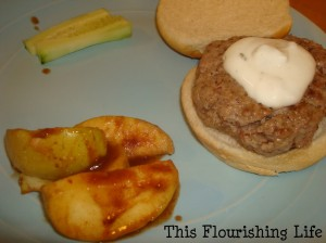 Lamb Burgers with an Herbed Yogurt Sauce