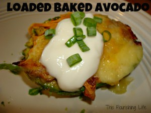 Loaded (with bacon) Baked Avocados