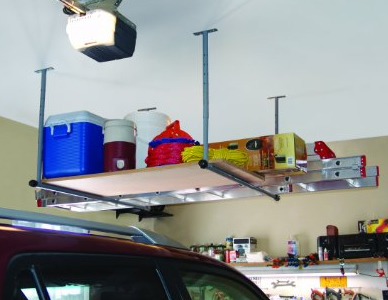 Overhead garage storage unit #organization