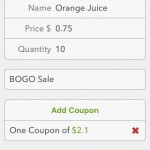 Easily add coupons for items