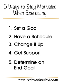 5 Ways to stay motivated when exercising #fitness