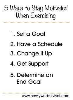 5 Exercise Motivation Tips