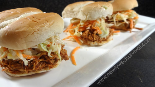 Bbq Beer Chicken Sliders With Pineapple Slaw - Newlywed -4846