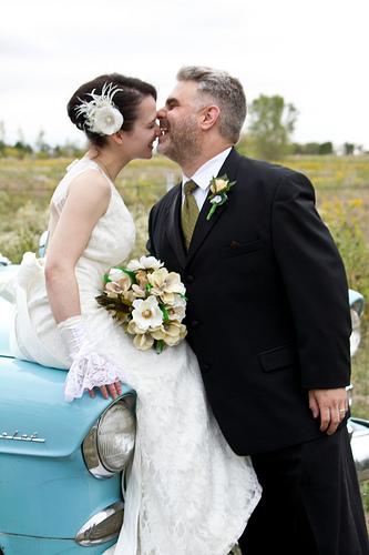 Cute newlywed couple