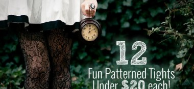 Fun patterned tights under $20 each!