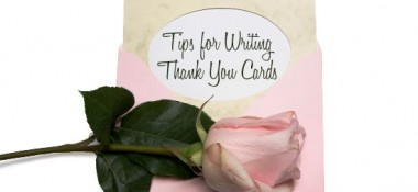 Tips for Writing Thank You Notes