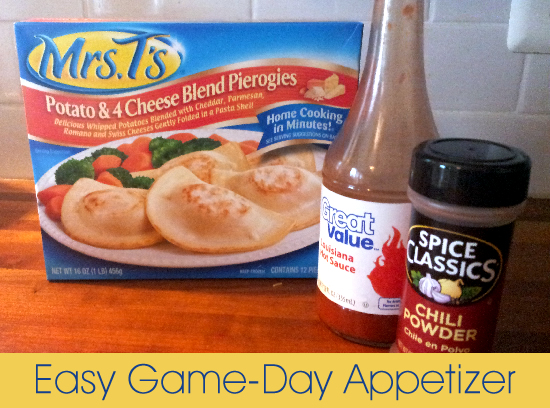 Buffalo Pierogies - easy game day appetizer #MrsTsPierogies #MC #sponsored