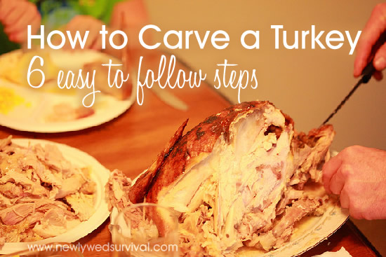 Never carved a turkey before? Or never seem to get it right? Follow these 6 easy steps to carve your turkey this Thanksgiving!