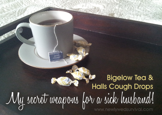 Bigelow Tea and Halls Cough Drops - My secret weapons for a sick husband! #AmericasTea #cbias #shop