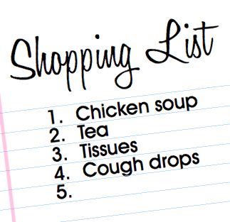 Sick husband shopping list. #AmericasTea #shop #cbias