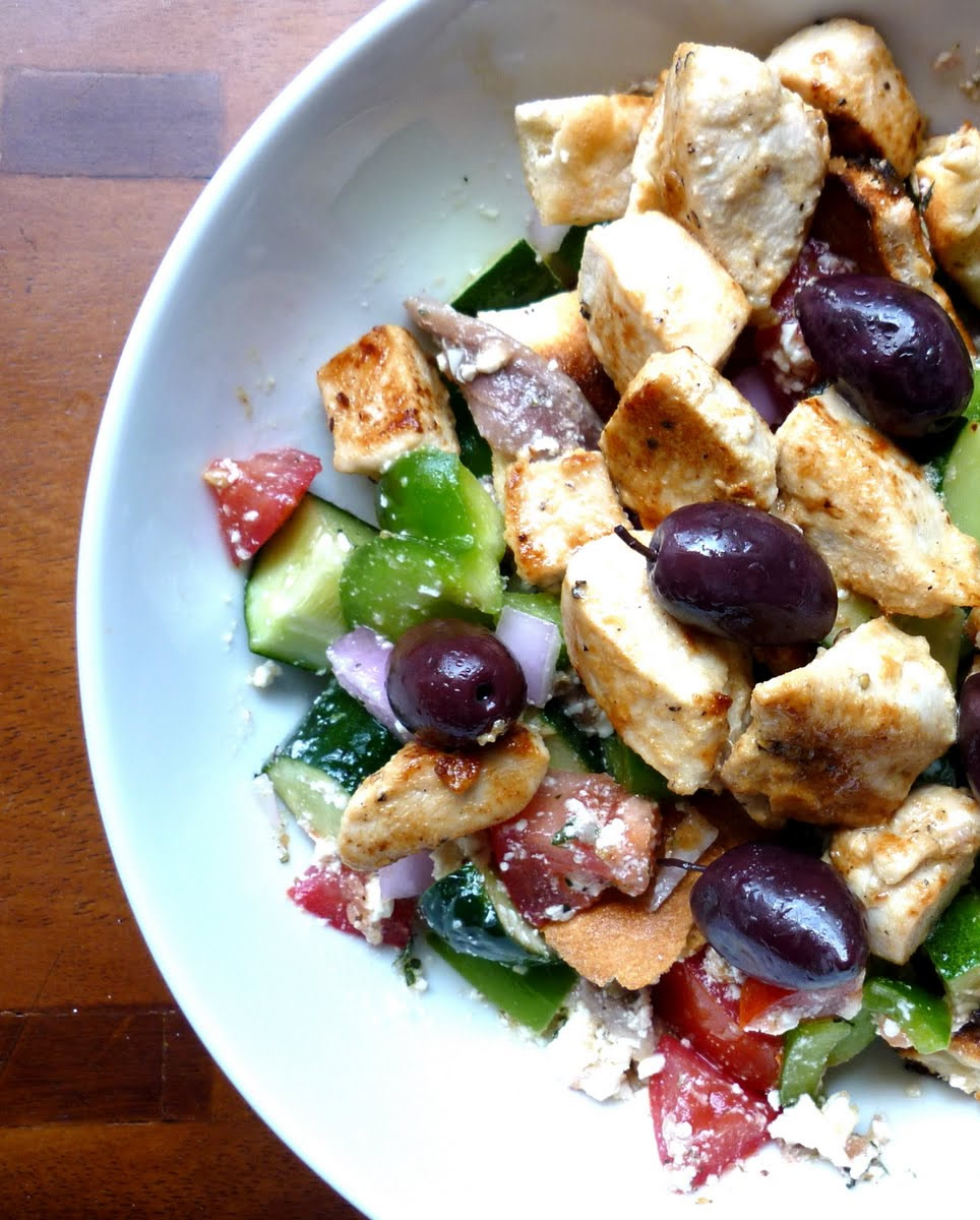 10 Minute Greek Salad for Two #recipe