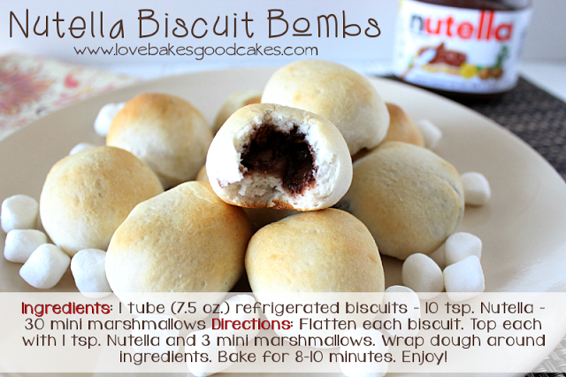 Nutella Biscuit Bombs | Love Bakes Good Cakes