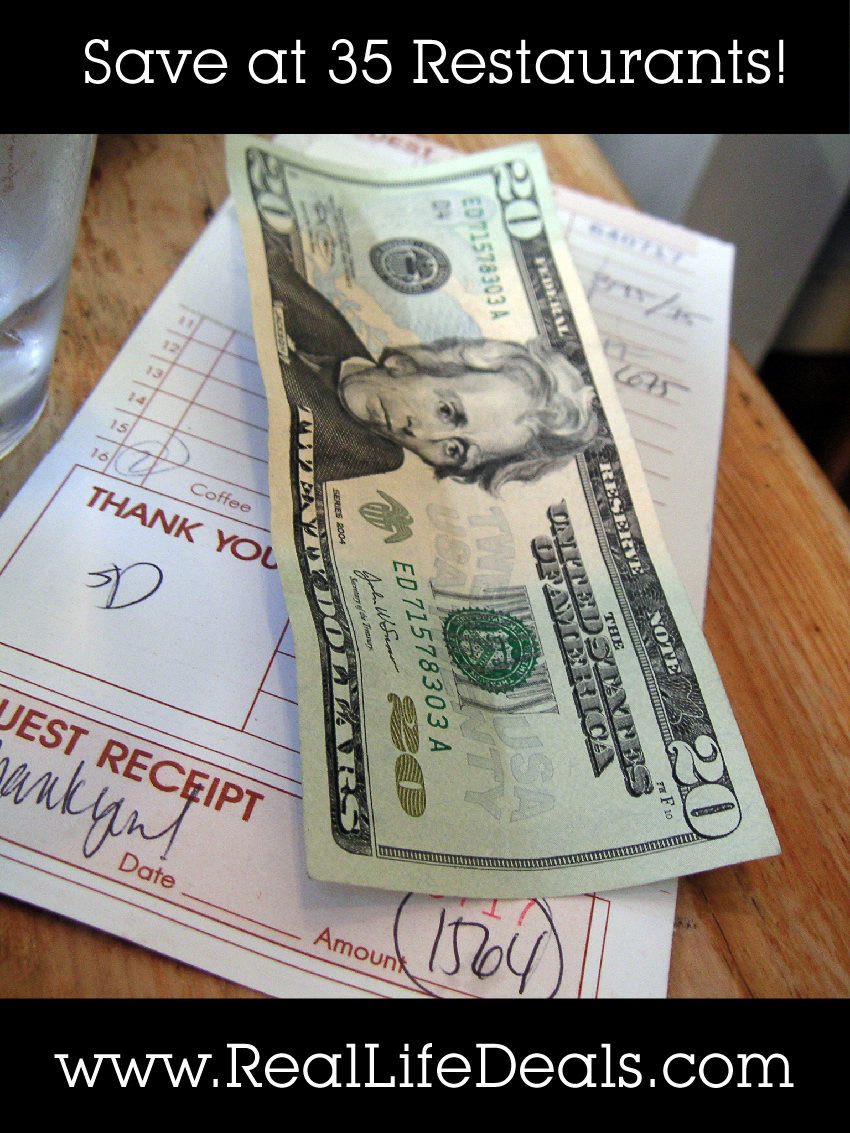 Save some money with these coupons & deals at 35 different restaurants!