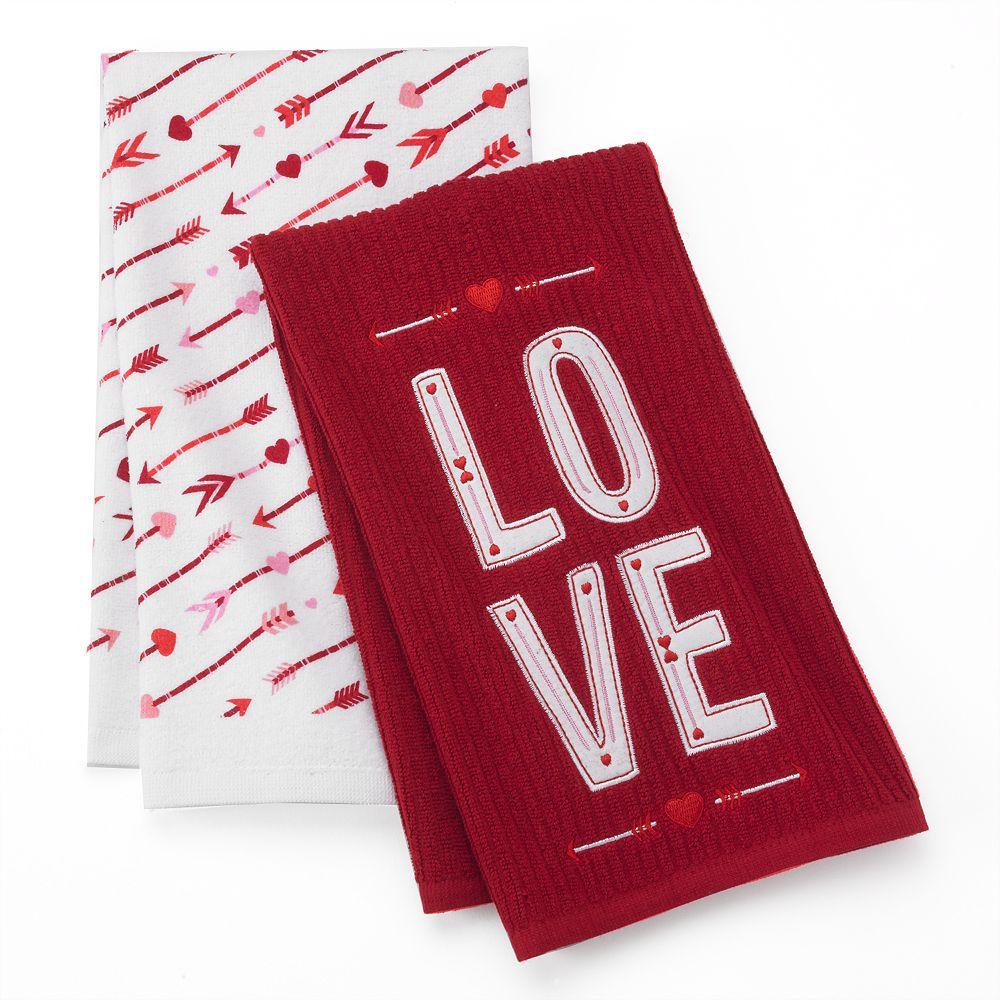 Valentine's Day Love 2-pk. Kitchen Towels #LoveKohls #MC