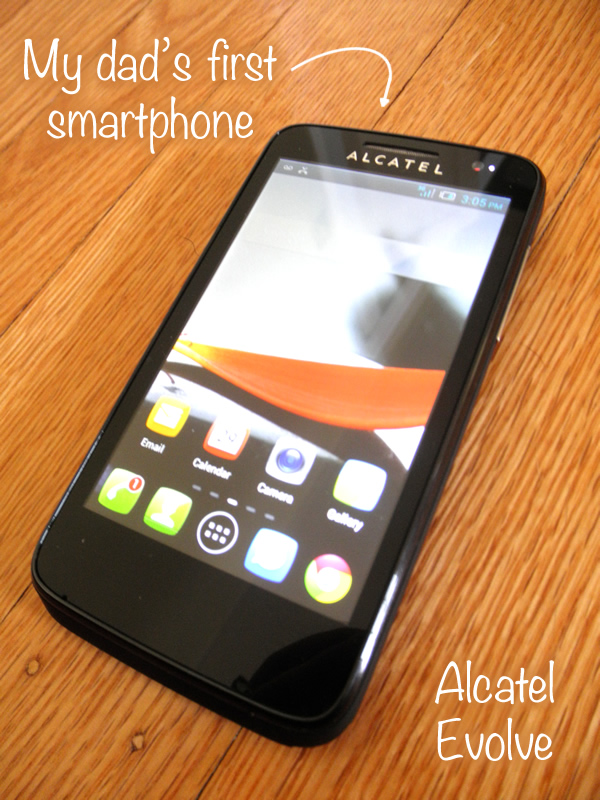 My dad's first smartphone - it works with Walmart Family Mobile! #FamilyMobile #shop