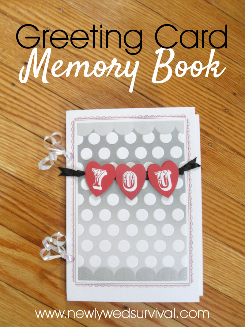 How to easily create a memory book from your favorite greeting card #ValentineCards #CollectiveBias