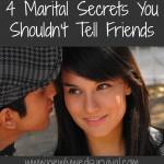 marital secrets you should keep