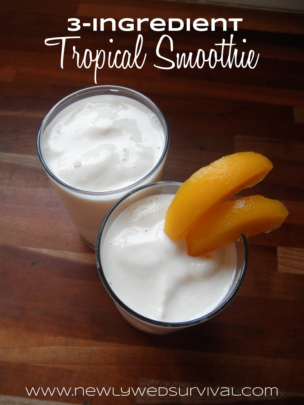 3 Ingredient Tropical Smoothie #naturalprobiotic #shop #cbias