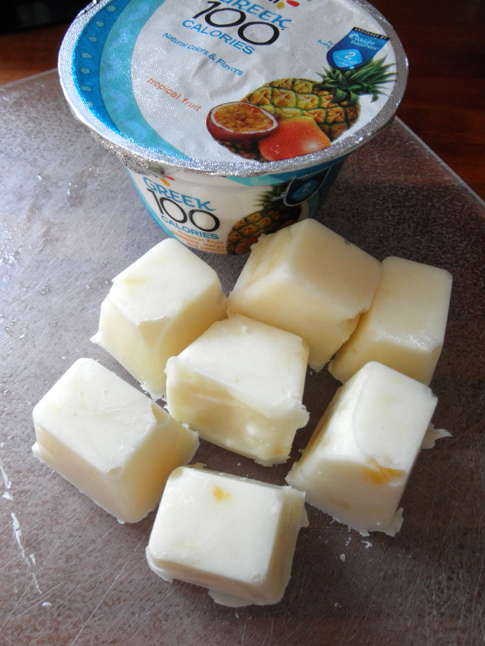Freeze Greek Yogurt in an ice cube tray #naturalprobiotics #shop #cbias
