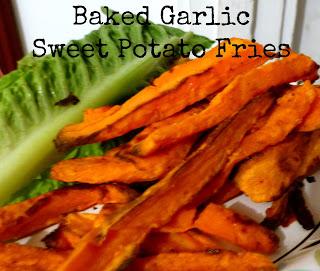 Baked Garlic Sweet Potato Fries | Nel's Nook
