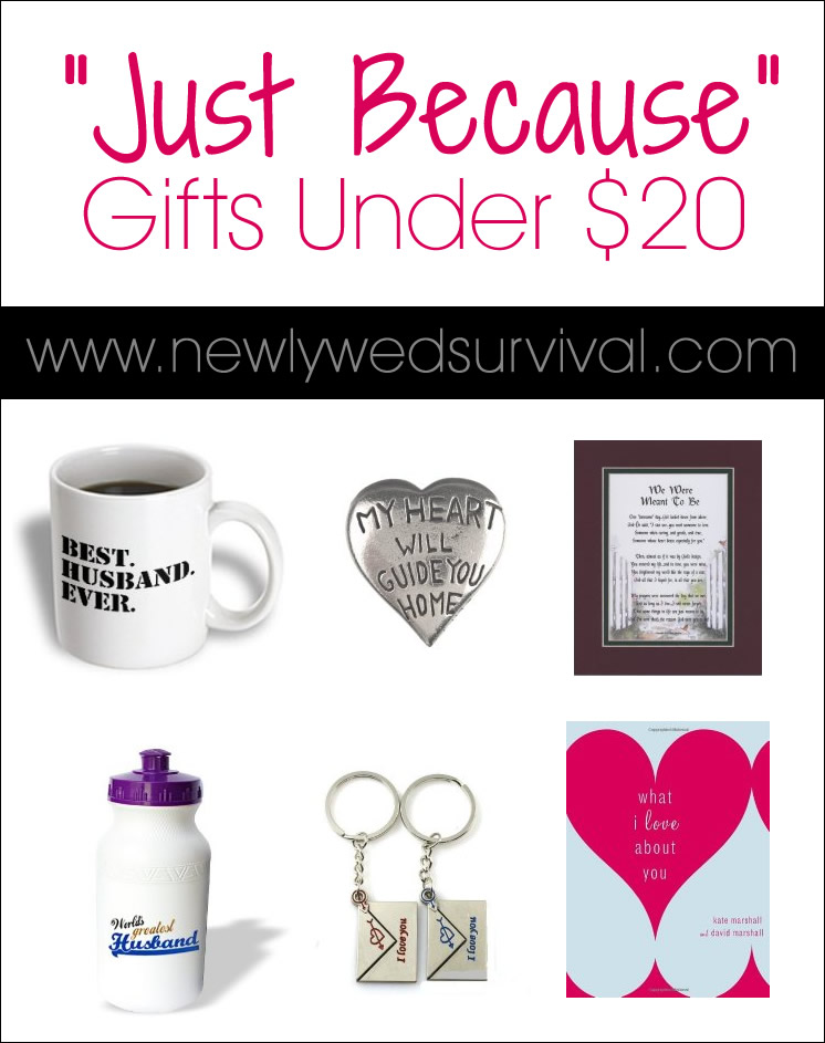 6 just because gifts for under 20 newlywed survival for Gifts for your boyfriend just because