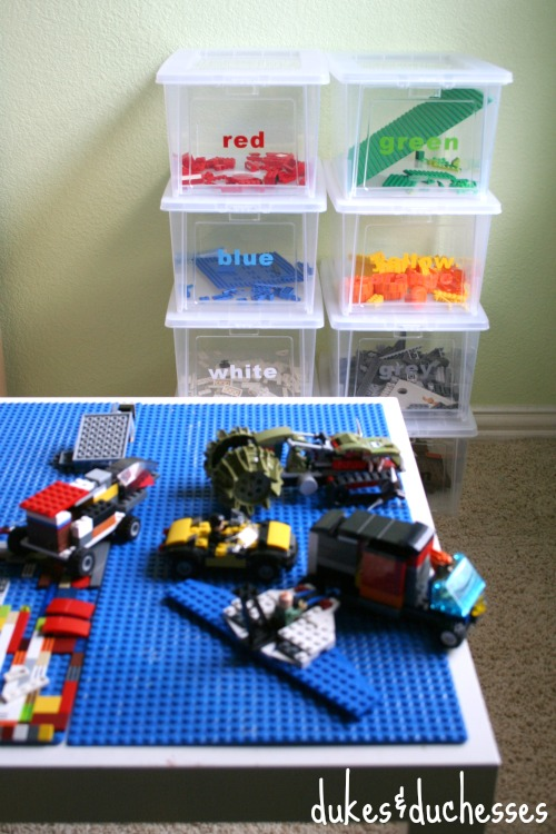 Color Coded Lego Organization | Dukes & Duchesses