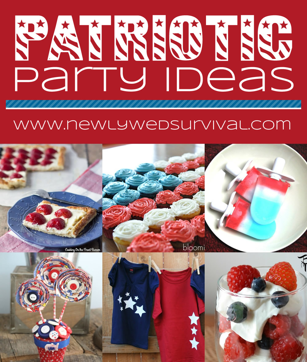 Patriotic Party Ideas - Red, White & Blue