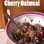 Chocolate covered cherry oatmeal