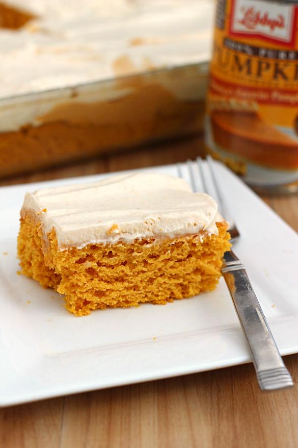 Skinny Pumpkin Butterscotch Poke Cake | What's Cooking, Love?