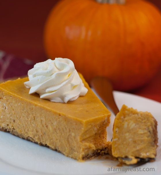 Pumpkin Cheesecake | A Family Feast
