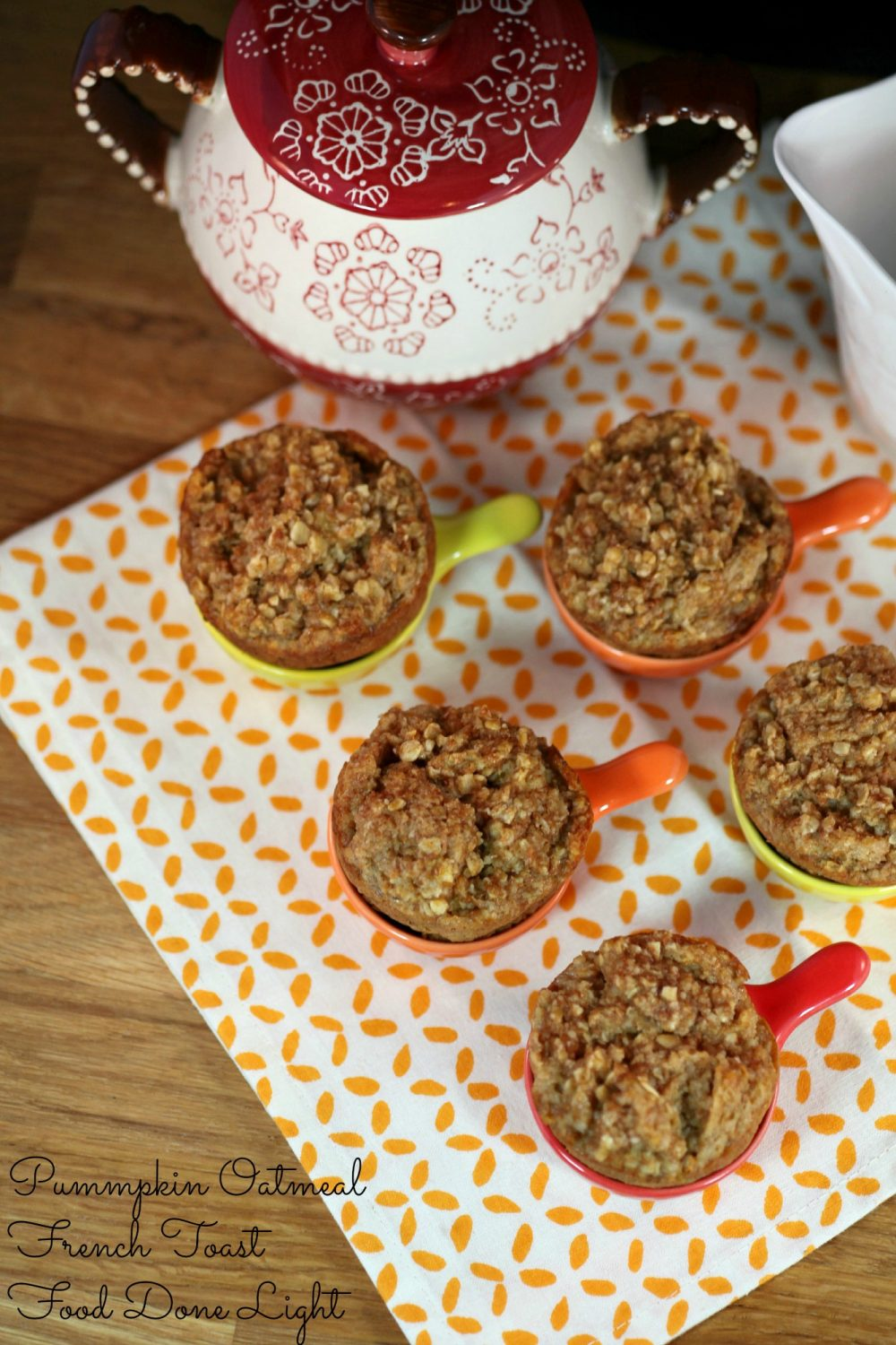 Pumpkin Butter Oatmeal French Toast Muffins | Food Done Light