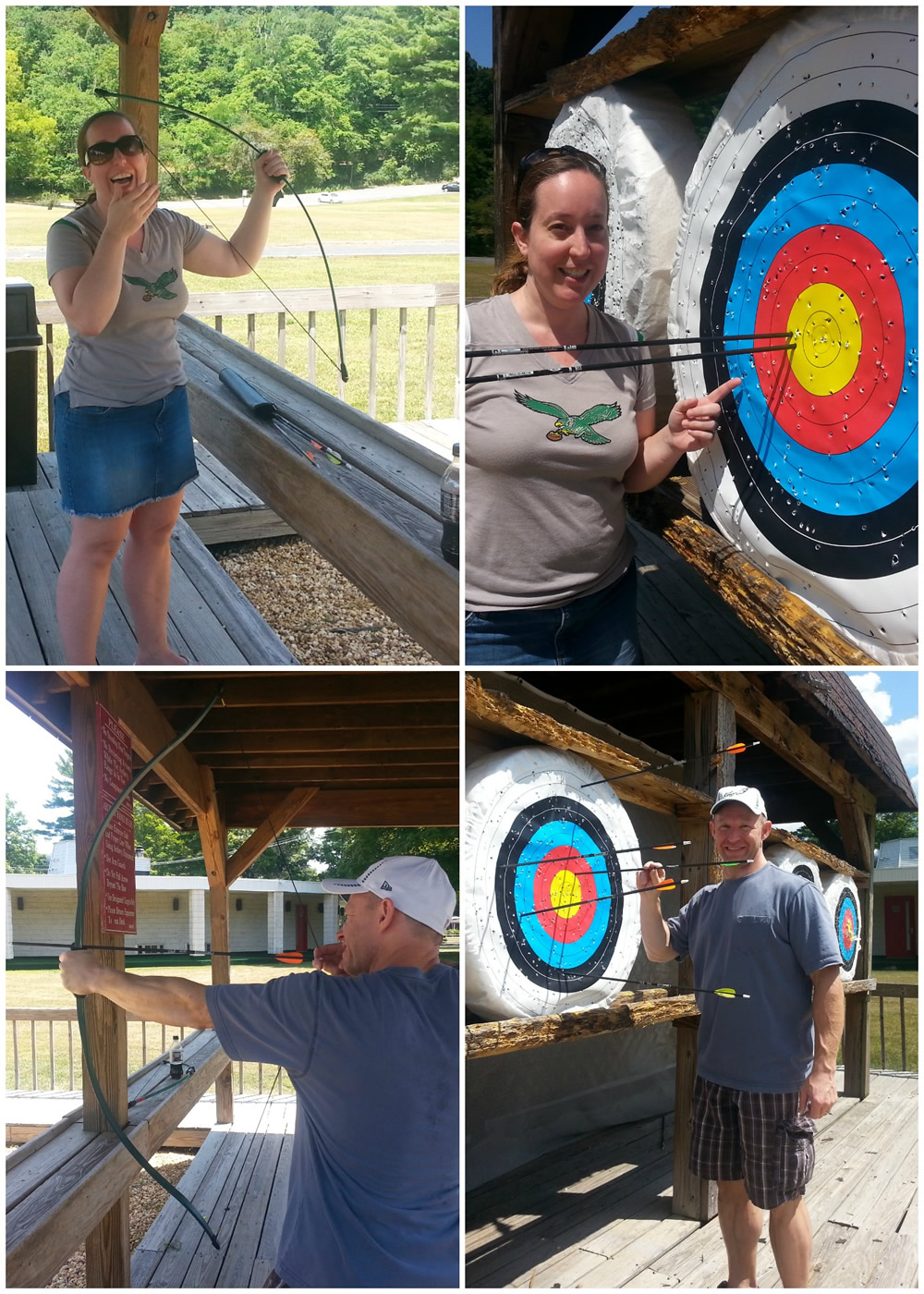 Fun with archery at the #landoflove #poconoromance #ad
