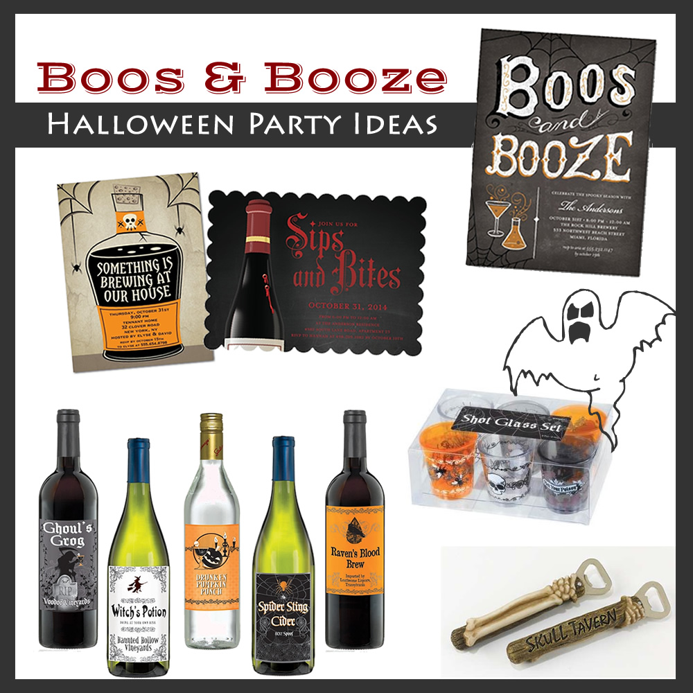 Boos and booze adult halloween party ideas