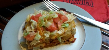 Easy taco salad recipe #manwich sponsored