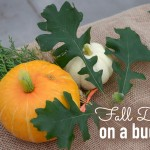 fall decor on a budget