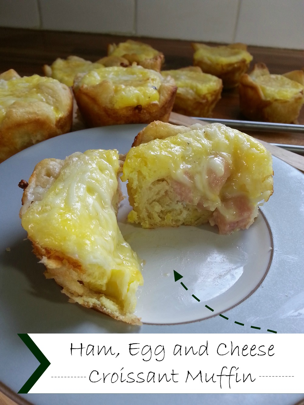 Ham, egg and cheese croissant muffin #GoAllNatural #WeaveMade #ad @smithfieldfoods