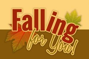 "Free fall printable ""Falling for you"""